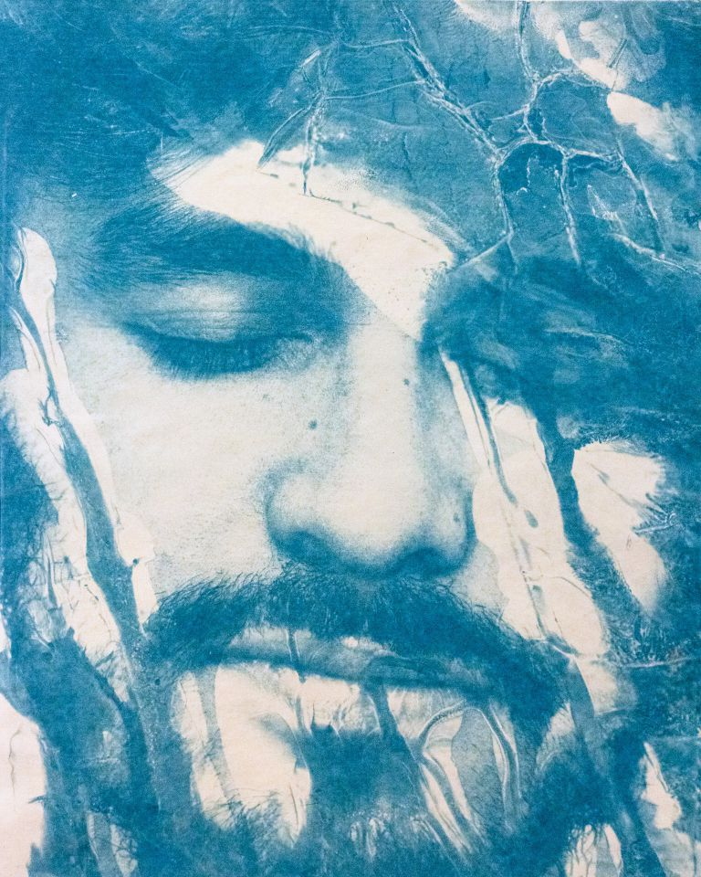 Tatiana Gulenkina - Distressed cyanotype on paper