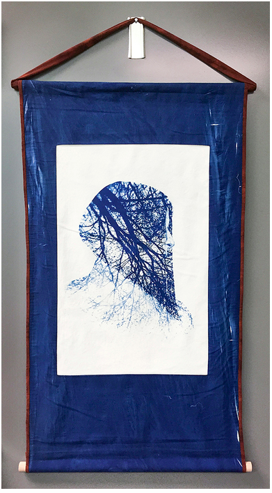 Ellen Davis - Cyanotype on cotton poplin
