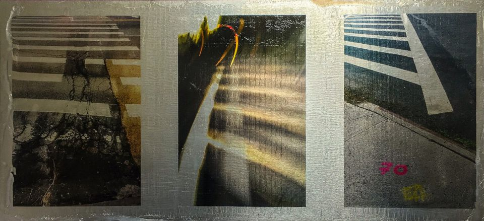 Tony Kirman - image transfer on aluminum