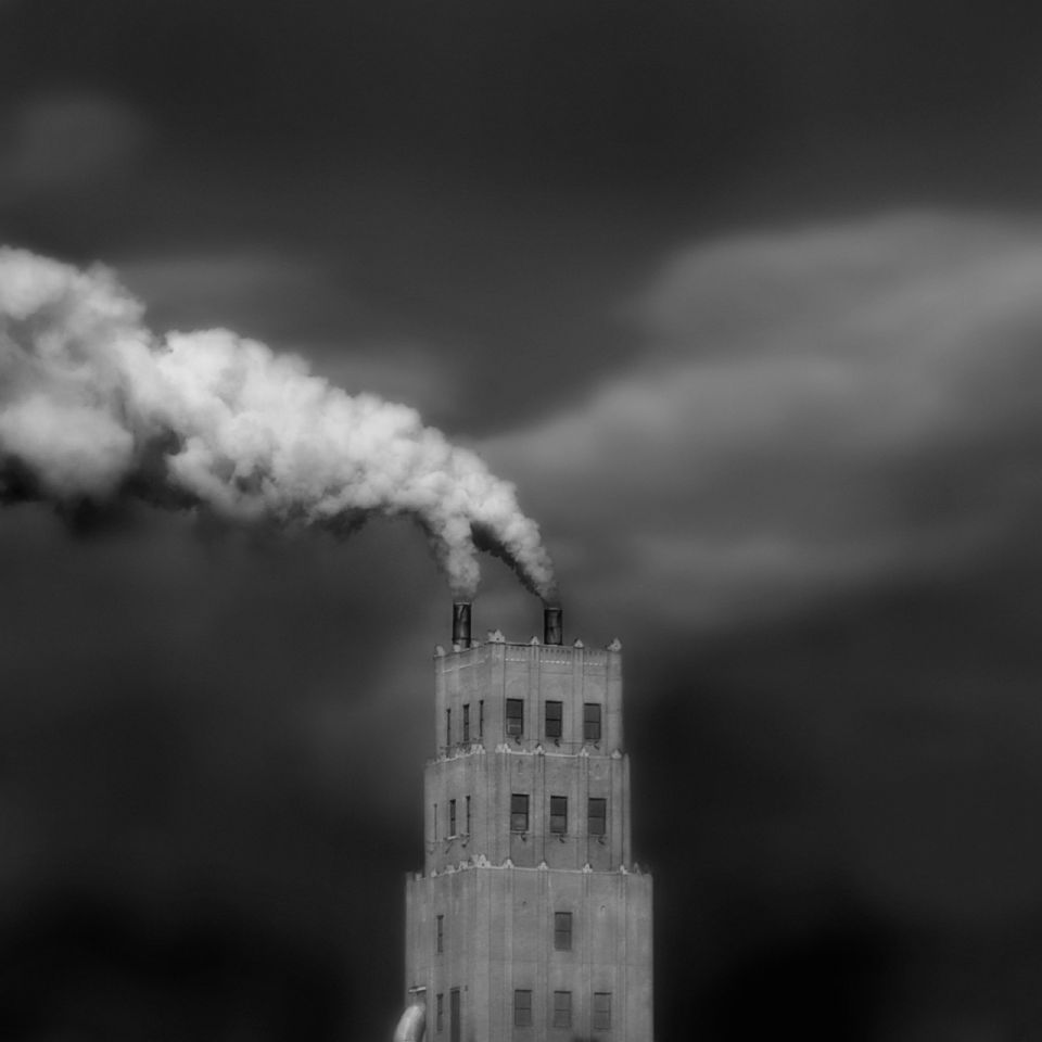 Robert Moran - Smoke Stacks<br/>Honorable Mention