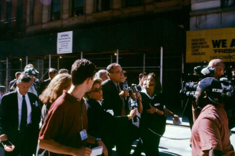 Giuliani and the Press Scrum