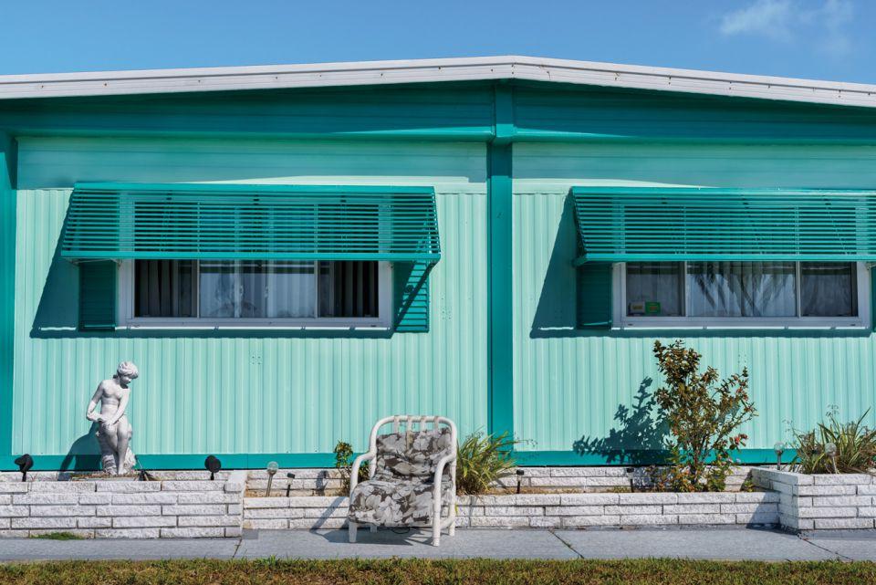 "Retro #9520; Ridgewood Mobile Home, Venice, FL USA; April 2015; 27°6'11"" N 82°25'55"" W"