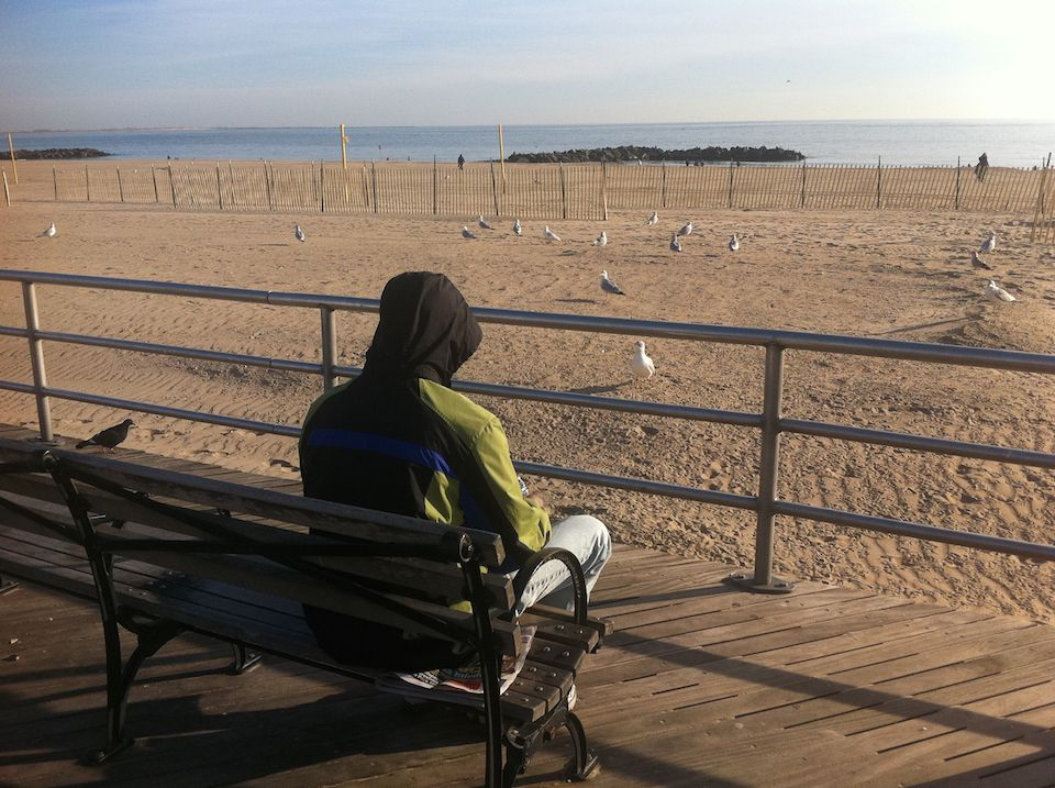PETER C. on the day he had lost his job. Brighton Beach, New York, USA (November 23, 2014)