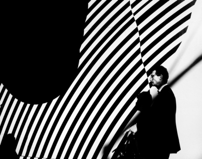 Man with Striped Wall