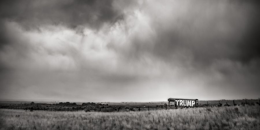Trump, I-80, Wyoming