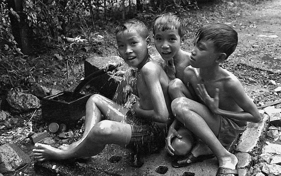 Children Playing in Street Saigon 1970