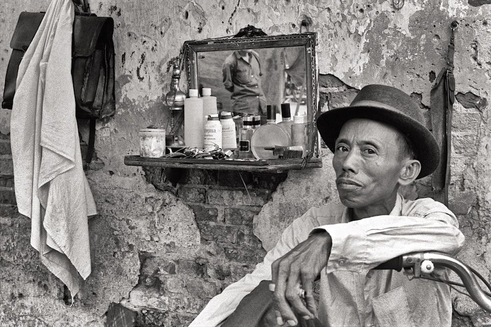 Sidewalk Barber Saigon 1970