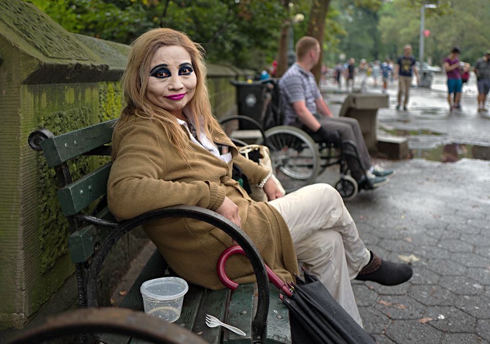 Lady With Makeup, Central Park