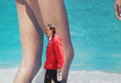 Man & Legs, Times Square