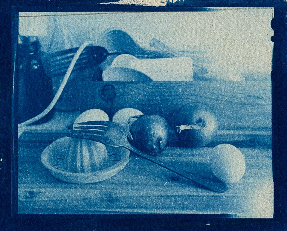 Janat Horn - Cyanotype on paper, Group Show October 2017