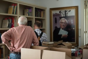 A project documenting the cleaning out of Ray Bradbury's house after his death.